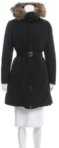 MonclerMoncler Poitiers Fur-Trimmed Coat