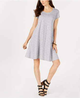 Style&Co. Style & Co Striped Cotton Swing Dress
