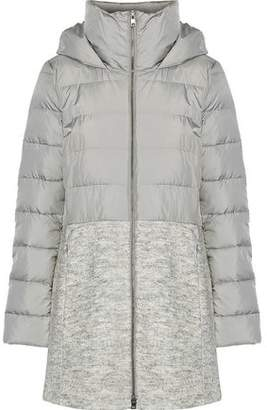 Soia & Kyo Valery Boucle-paneled Quilted Shell Down Hooded Coat