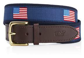 Vineyard Vines American Flags Canvas Club Belt
