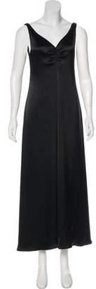 Emporio Armani V-neck Satin Gown