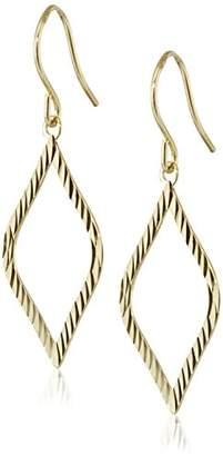 Marquis 14k Yellow Diamond-Cut Drop Earrings