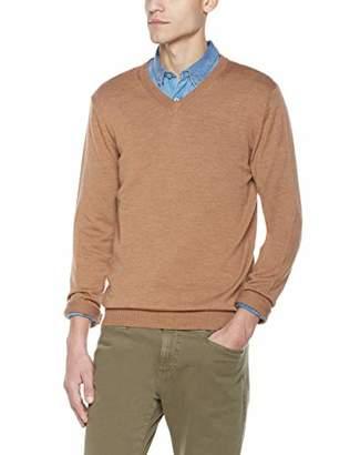 Isle Bay Linens Men's Merino Solid V-Neck Sweater