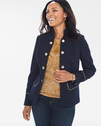 Chico's Military Button Jacket