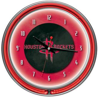 Kohl's Houston Rockets Chrome Double-Ring Neon Wall Clock
