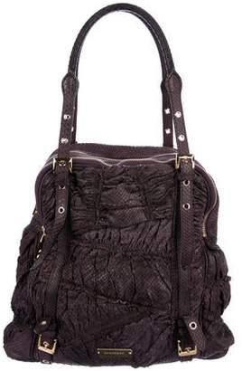 Burberry Python Ruched Shoulder Bag