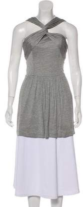 Burberry Pleat-Accented Sleeveless Top