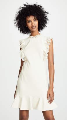 Rebecca Taylor Crepe Lace Dress