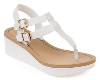 Brinley Co. Womens T-strap Wedge Sandal