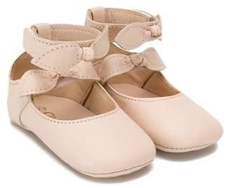 257758744645be Chloé Kids bow detail ballerina shoes