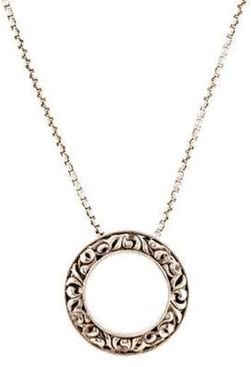 Charles Krypell Sapphire I Love You Pendant Necklace silver Sapphire I Love You Pendant Necklace
