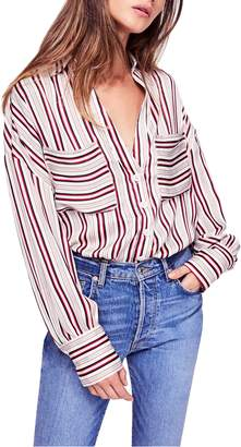 Free People Mad about You Stripe Shirt