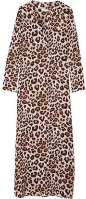 Equipment - Niko Leopard-print Washed-silk Maxi Dress - Leopard print $420 thestylecure.com