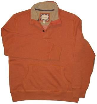 G.H. Bass & Co. G. H. Bass Men's Sherpa-lined Button Mock-neck Fleece Pullover M