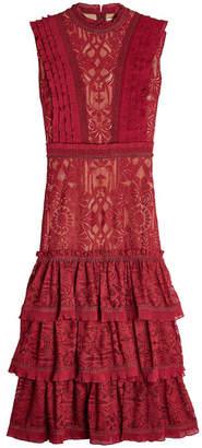 Jonathan Simkhai Sleeveless Dress with Lace Overlay
