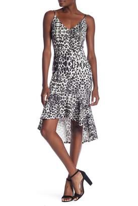 Love...Ady V-Neck Flounce Hem Midi Dress