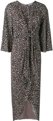 Shona Joy animal print draped dress