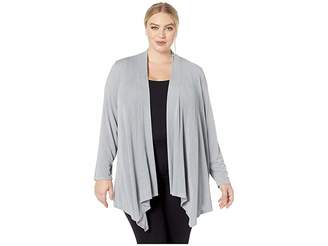 Calvin Klein Plus Plus Size Long Sleeve Metallic Flyaway Cardigan