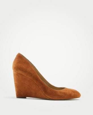 Ann Taylor Molly Suede Wedge Pumps