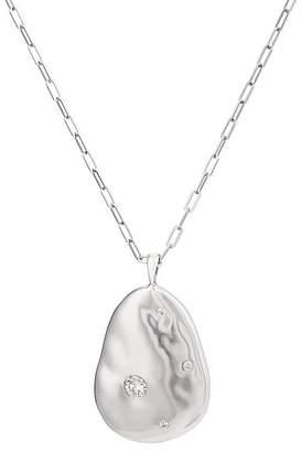 Cvc Stones Women's White Gold Pear-Shaped-Pendant Necklace