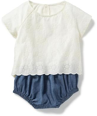 Lace-Blouse & Chambray Bubble One-Piece for Baby $22.94 thestylecure.com