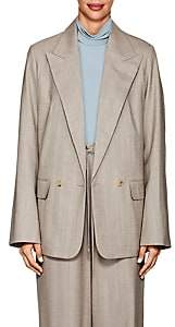 The Row Women's Presner Pinstriped Wool Blazer - Taupe Grey