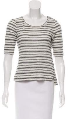 A.L.C. Semi-Sheer Linen Top