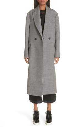 Stella McCartney Contrast Back Wool & Silk Coat