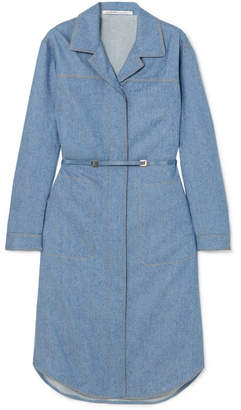 Agnona Belted Wool And Cashmere-blend Midi Dress