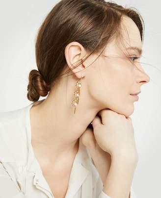 Ann Taylor Pave Flower Tassel Earrings
