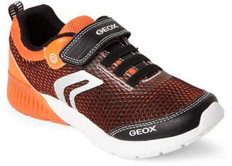 Geox Kids Boys) Black & Orange Sveth Light-Up Sneakers