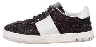 Valentino Rockstud Glitter Sneakers
