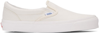 Vans Ivory OG Classic Slip-On Sneakers $60 thestylecure.com