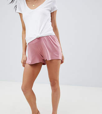 Asos DESIGN Maternity culotte shorts in rose pink