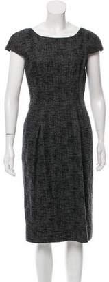 Dolce & Gabbana Cap Sleeve Midi Dress