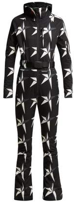 Perfect Moment - Star Print Technical Ski Suit - Womens - Black Multi