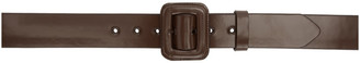 Dries Van Noten Brown Smooth Leather Buckle Belt