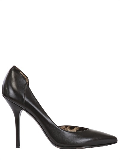 Dolce & Gabbana - 110mm Leather D'orsay Pointy Pumps