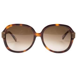 Lanvin Brown Plastic Sunglasses