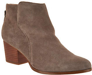 Sole Society Suede Ankle Boots with Zipper -River