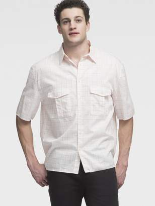DKNY Printed Utility Pocket Short Sleeve Shirt