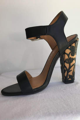 Qupid Leather Embellished Heel