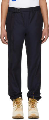 Sacai Navy Belted Trousers