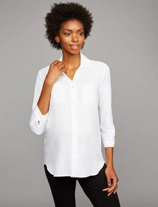 Pietro Brunelli Pea Collection Button Front Maternity Shirt