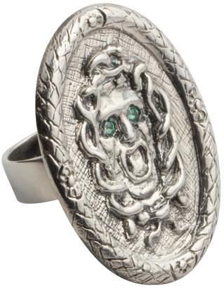 MeDusa Reagan Charleston Emerald Adorned Cocktail Ring