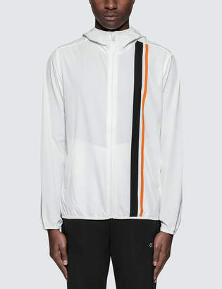 Calvin Klein Stripe Blocking Hooded Wind Jacket