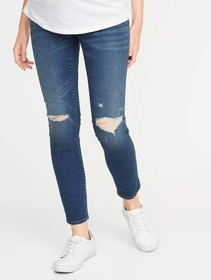 ddbffe7a817 Old Navy Maternity Full Panel Distressed Rockstar Jeans
