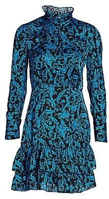 Sandro Women's Alna Baroque Print Mini Dress