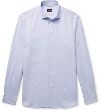 Ermenegildo Zegna Puppytooth Cotton And Linen-Blend Shirt