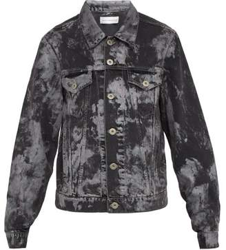 Faith Connexion Metallic Paint Effect Denim Jacket - Mens - Black